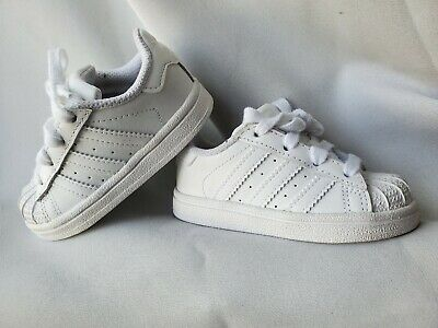 Adidas Superstar White Toddler Baby Girls Boys Shoes Size 5 A1 | eBay