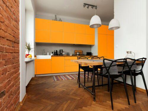3 m Küchenfolie 5,98 € //m Folie Küche hellorange matt 61,5 cm
