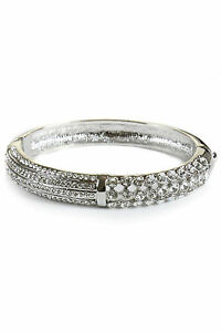 6358-1-Womens-Diamante-Bracelet-Preciosa-Crystals-Rhodium-Plated-Silver