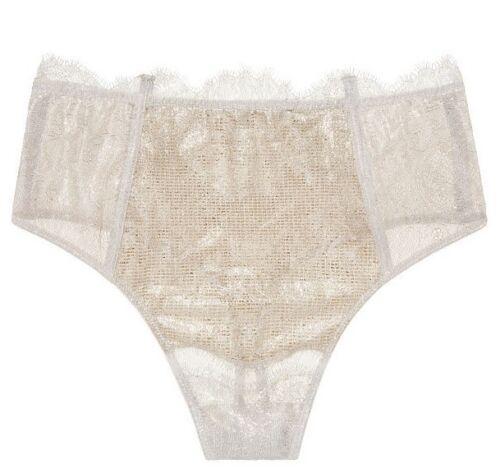Details about  /Victoria/'s Secret DREAM ANGELS Chantilly Lace High-waist Thong sz XS gold CQM