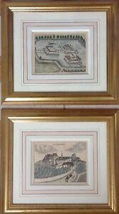 Nicolas-VISSCHER-1618-1679-Gezendorff-et-Roith-2-eaux-fortes-1674-15x20
