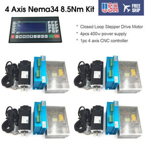 4-Axis-Nema34-8-5Nm-DSP-Closed-Loop-Stepper-Drive-Motor-CNC-Contoll-Power-Supply