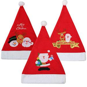 Adults-Kids-Christmas-Novelty-Hat-Xmas-Design-Santa-Rudolph-Snowman-Hats