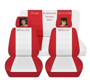 Tremendous Details About Car Seat Cover Toyota Model Customized Name Red And White Front Rear Set Abf Forskolin Free Trial Chair Design Images Forskolin Free Trialorg
