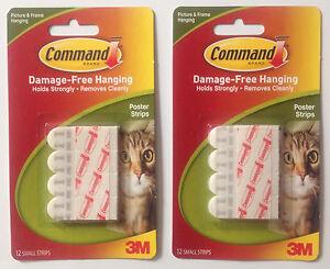 2 X 12 Dommages Libre 3m Command Bandes Pour Affiches Blanc 46mm X 16mm Free P&p-afficher Le Titre D'origine Gqng1kfa-07155253-863145620