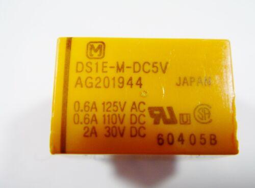 Relais 5v 1xum 125v 0,6a 30v 2a nais ds1e-m-dc5v Gold #9r59b