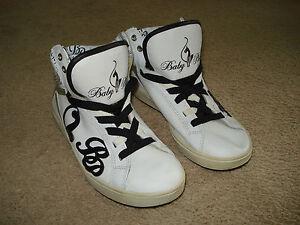 Baby Phat Womens Hi Top White & Black Sneakers Size 9