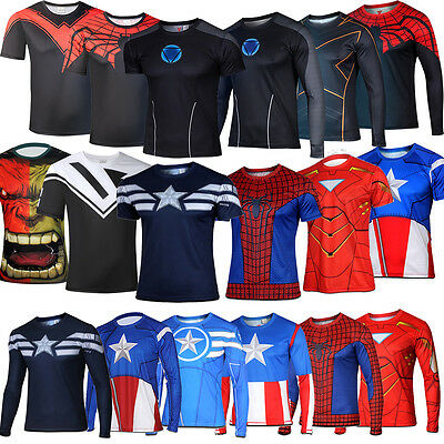 2015 Mens Casual Comics Superhero The Avengers T-Shirt Cosplay Jersey Tee Tops