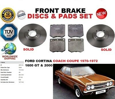 EBC FRONT GD DISCS YELLOWSTUFF PADS 248mm FOR FORD CORTINA MK3 2.0 1970-76