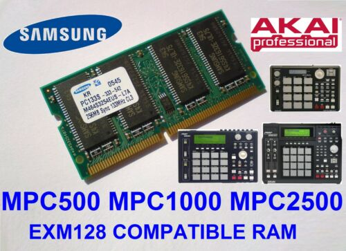 Akai MPC2500 MPC1000 MPC500 Memory Ram 256MB PC133 SDRAM CL3 NP SO-DIMM