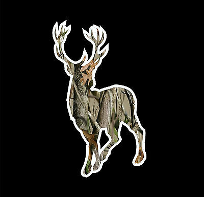 DEER HEAD hunting fishing rack horns whitetail truck window decal sticker