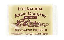 White Hulless Microwave Popcorn 3 oz 10 ct 10 bags Lite Natural Free Shipping