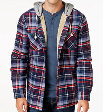 Weatherproof Men's Big and Tall Hooded Plaid Sherpa Lined Shirt Jacket - XLT