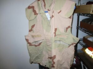 USGI-Military-PASGT-Vest-Flak-Cover-Desert-3-Color-Camo-SMALL-MEDIUM-PREOWNED
