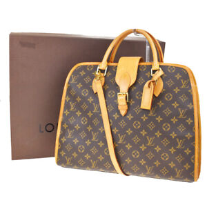 Auth-LOUIS-VUITTON-Rivoli-2Way-Hand-Bag-Monogram-Leather-Brown-M53380-77MF294