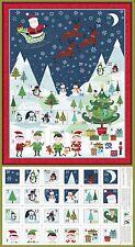 1586 Makower Frosty Scenic Christmas Advent calendar panel