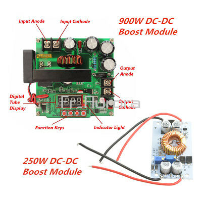1PCS DC-DC BST900W CNC Boost Converter 8-60V Step-up 10-120V Solar Charging CVCC