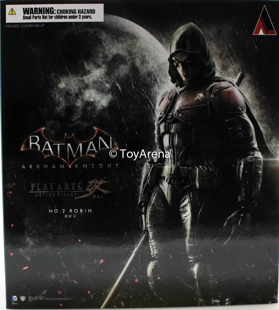 BATuomo Arkham Knight Robin Play Arts Kai cifra Azione in magazzino USA venditore