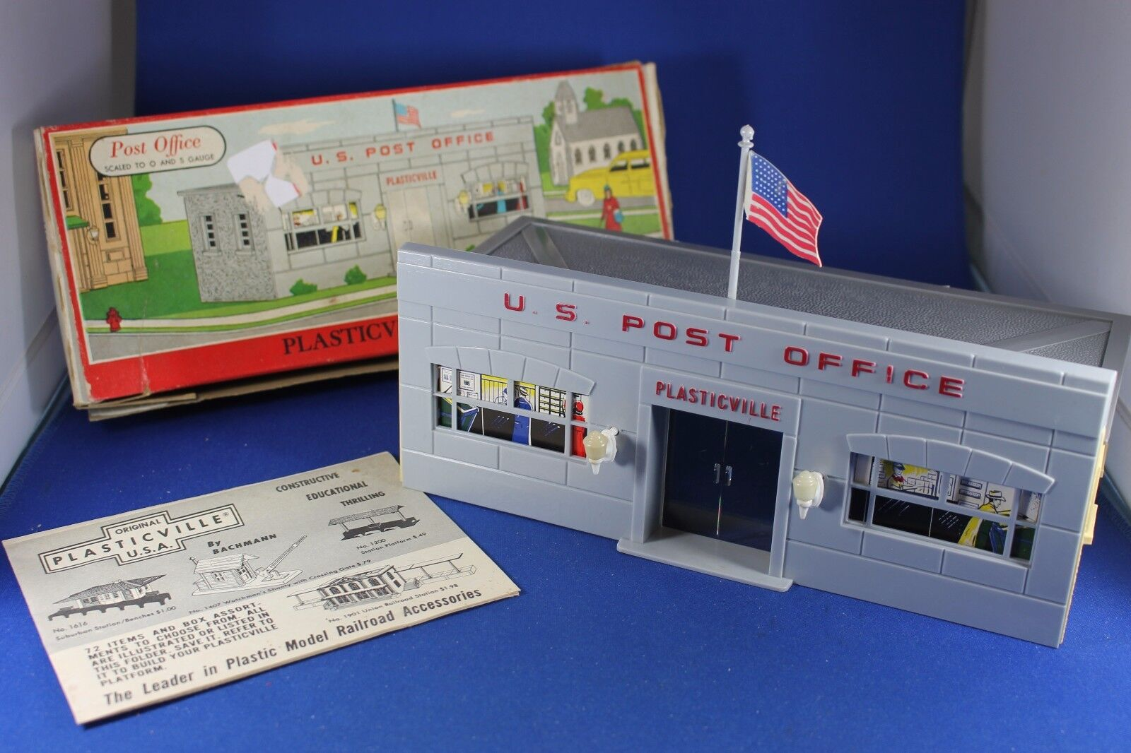 Plasticville  OO27   1602  Post Office  Excellent Cond  completare  HTF scatola