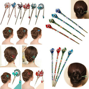 Fashion-Elegant-Wedding-Gift-Hair-Pin-Colorful-Hairpin-Rhinestone-Hair-Stick