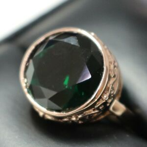 5-Ct-Green-Emerald-Round-Engagement-Wedding-Ring-Size-6-5-18K-Rose-Gold-Plated