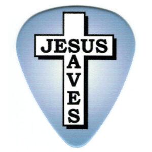 12-PK-Bulk-FAITH-JESUS-SAVES-Picks-Cross-Religious-Christian-Medium-Guitar-Pick