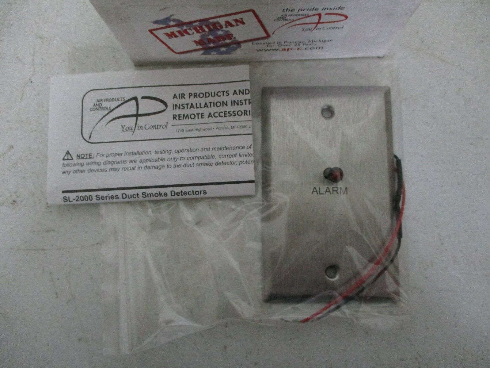 Ms Ra 920088 Remote Duct Detector Accessory Air Products And