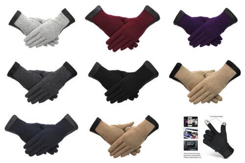 Débardeur Femme Gants D/'Hiver écran Tactile 100/% Coton Chaud Fleece Line Diamond