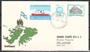 Argentine-malouines Lettre 1556 Y Cachet Spécial (europe: 5454)-afficher Le Titre D'origine