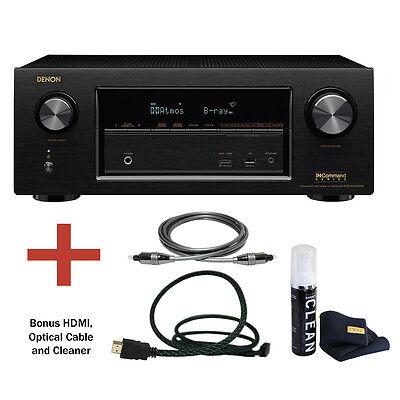Denon AVR-X3300W 7.2 Channel 4K Ultra HD AV Receiver with Bluetooth Bundle.