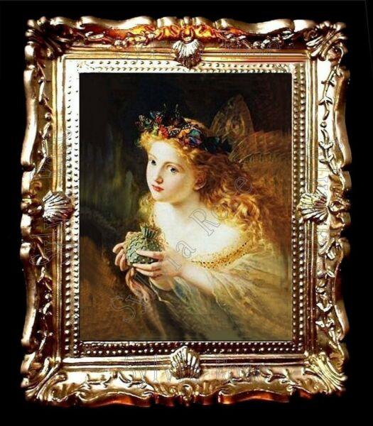 Amichevole Bellissima Casa Delle Bambole Immagine In Miniatura In Oro Telaio Sweep (no.1636)