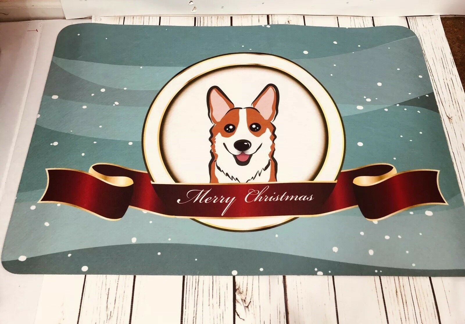 Polish Tatra Sheepdog Merry Christmas Tree Kitchen Or Bath Mat 24x36 For Sale Online Ebay