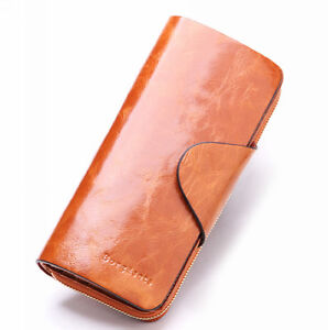 Women-039-s-Soft-Genuine-Leather-Bifold-Purse-Vintage-Designer-Wallet-Brand-New