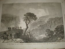 Duke of Edinburgh Weatherboard Waterfalls New South Wales Australia 1868 print