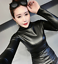 Womens-Vogue-Slim-Warm-PU-Leather-Tops-Casual-Turtleneck-Blouse-Plus-Shirt-New thumbnail 2