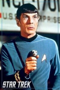 STAR-TREK-TOS-SPOCK-WITH-PHASER-24x36-TV-POSTER-Original-Series-Leonard-Nimoy
