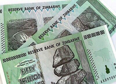 UV INSPECTED COA ZIMBABWE 100 TRILLION DOLLARS AA 2008 SERIES P91 UNC AUTHENTIC