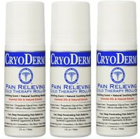 Cryoderm 3 Oz. Roll-on 3-pack (brand Exp 11/2019)