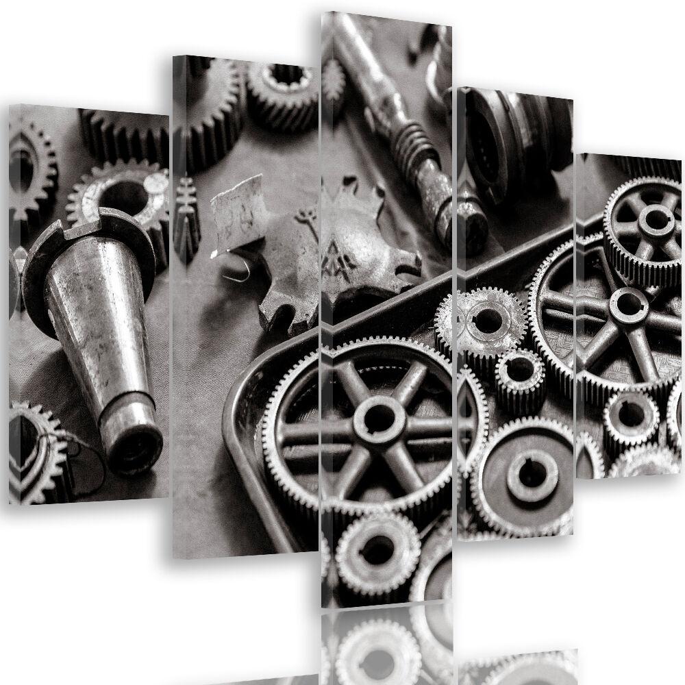 Imagen del lienzo imágenes murales son impresiones artísticas de alta calidad gris engranajes herramientas