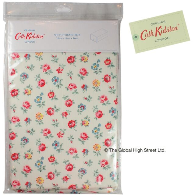 Cath Kidston Shoe Storage Box 100% authentic - Linen Sprig (white) *BNWT*
