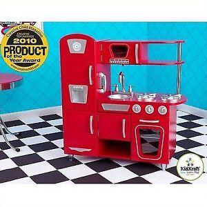 red vintage kitchen for kids kidkraft play kitchens 53173 ebay rh ebay com KidKraft Vintage Play Kitchen KidKraft Wooden Kitchen