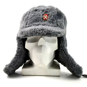 29d1a1a8269 Genuine Czech army winter cap Ushanka grey fur extremely warm hat
