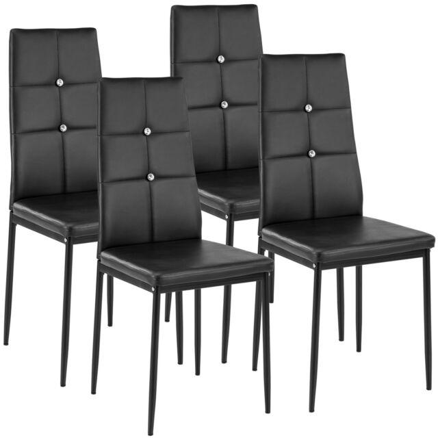 Tectake Julien Set Di 4 Sedie Per Sala Da Prazno Nere Acquisti Online Su Ebay
