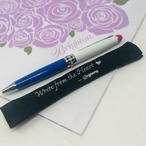 BRIGHTON LONG Pen Pal Charm Pen patriotic with charm NWOT W/COVER