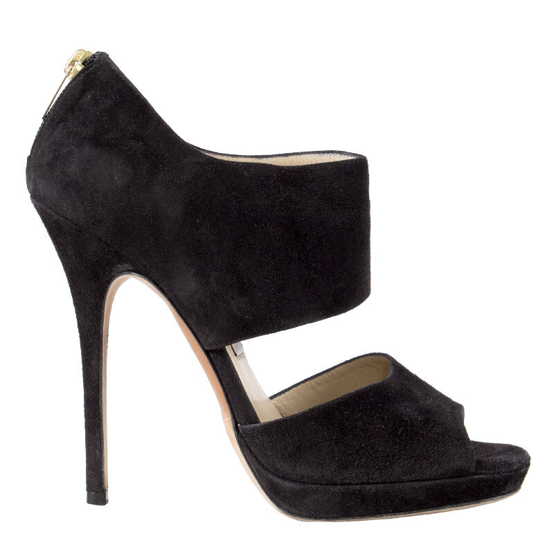 41864 auth JMMY CHOO  pelle scamosciata nera Piattaforma SANDA Sandals scarpe 38  la migliore offerta del negozio online
