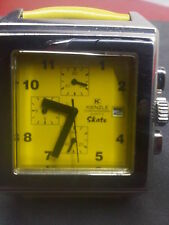 Original Kienzle Chronometer Quartz 38x49mm with yellow leather band NEW !