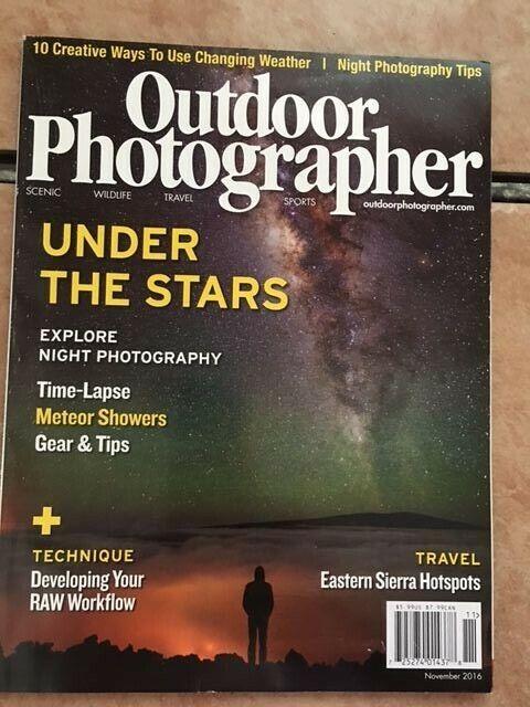 "OUTDOOR PHOTOGRAPHER "" NIGHT PHOTOGRAPHY TIPS"" NOVEMBER 2016 8"