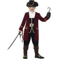 Childrens Boys Deluxe Pirate Captain Fancy Dress Costume New by Smiffys