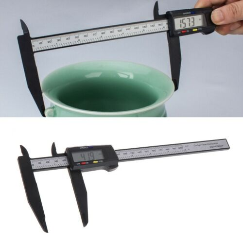 200MM 8Inch LCD Digital Vernier Caliper Electronic Carbon Fiber Gauge Micrometer