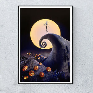 Nightmare-Before-Christmas-Animated-Film-Movie-Glossy-Print-Wall-Art-A4-Poster